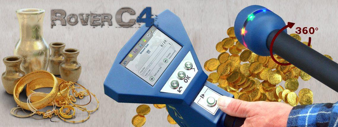 تطبيقات استخدام جهاز كشف الذهب روفر سي 4